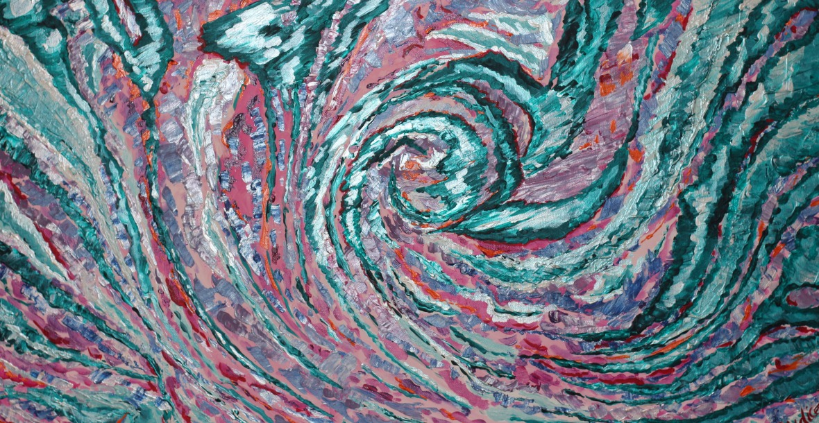Swirling of The Coloured Zebra