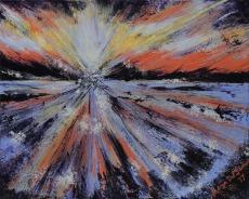 Artsillusion_Del Giudice_Sharyn_Radiating Sunset from Rosebud Pier