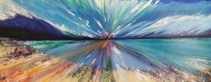 Del Giudice, Sharyn-Beach At Lake Tahoe No. 3-2017-acrylic-150x60cms.