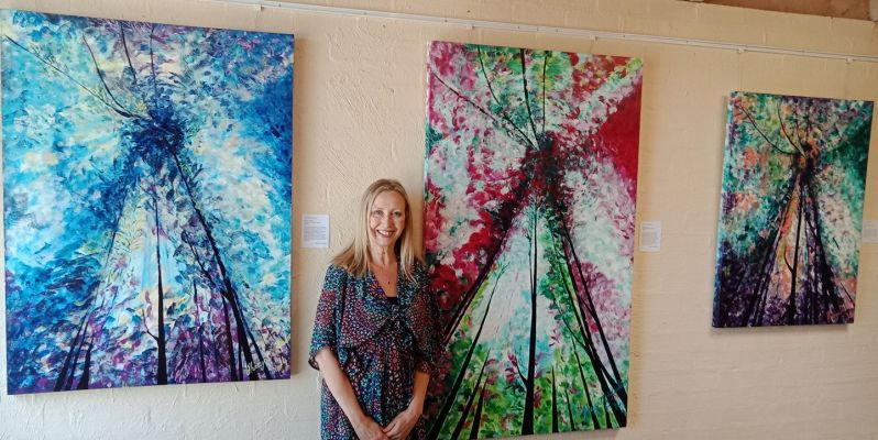 Sharyn At Energy, Emotion & Euphoria at WhitHill Gallery 31-3-2018